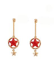 cheap -Drop Earrings - Star Simple, Korean Red For Gift / Daily