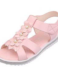 povoljno -Žene Cipele Umjetna koža Proljeće Ljeto Inovativne cipele Udobne cipele Sandale Ravna potpetica za Kauzalni Zabava i večer Bež Plava Pink