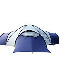 Недорогие -FLYTOP 7 человек Семейный кемпинг-палатка На открытом воздухе Водонепроницаемость С защитой от ветра Дожденепроницаемый Однослойный Палатка Трехкомнатная >3000 mm для