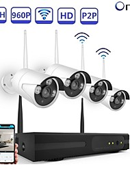 cheap -Strongshine® 4CH Network Video Recorder H.264 960P Wireless CCTV NVR Kit with 1.3MP IR IP Camera