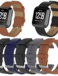 Недорогие -Ремешок для часов для Fitbit Versa Fitbit Классическая застежка Натуральная кожа Повязка на запястье