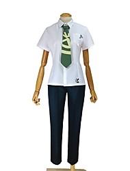 abordables -Inspirado por Dangan Ronpa Cosplay Animé Disfraces de cosplay Trajes Cosplay Otros Manga Corta Top Pantalones Corbata Para Unisex
