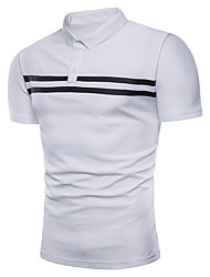 cheap -Men's Business Polo - Color Block, Jacquard
