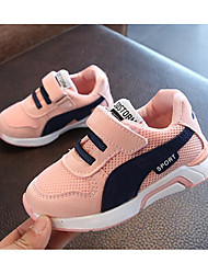cheap -Girls' Boys' Shoes Tulle Spring Comfort Sneakers for Casual Outdoor White Black Pink