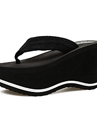 cheap -Women's Shoes EVA Summer Comfort Slippers & Flip-Flops Wedge Heel Round Toe for Casual Black