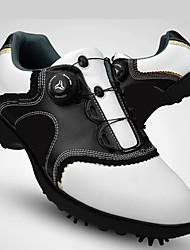 Недорогие -Муж. Обувь для игры в гольф Вибрам Гольф, Мягкий, Автоматический Коровья замша Черный / Белый