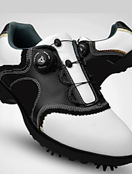 cheap -Men's Golf Shoes Vibram Golf, Soft, Automatic Cowsuede Leather Black / White