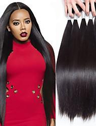 abordables -Cheveux Péruviens Droit Tissages de cheveux humains 5 Doux Non traité Tissages de cheveux humains Extensions Naturelles One Pack Solution