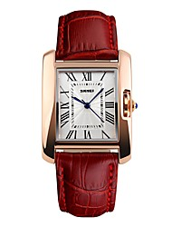 cheap -Women's Quartz Fashion Watch Japanese Water Resistant / Water Proof Genuine Leather Band Vintage Black Red Brown