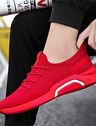 preiswerte -Herrn Schuhe PU Frühling Herbst Komfort Sneakers Walking Schwarz Grau Rot