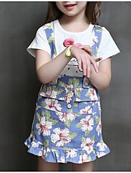 abordables -Ensemble de Vêtements Fille Quotidien Couleur Pleine Coton Fibre de bambou Printemps Manches longues Décontracté Blanc Rose Claire