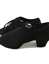 preiswerte -Herrn Schuhe für modern Dance Oxford Sneaker Niedriger Heel Maßfertigung Tanzschuhe Schwarz / Innen
