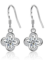 cheap -Women's Zircon Drop Earrings - Fashion / Sweet Silver / Purple Four Leaf Clover Earrings For Daily / Date