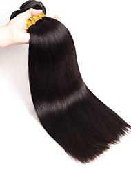 baratos -6 pacotes Cabelo Brasileiro Liso Cabelo Humano Um Pacote de Solução / Extensões de Cabelo Natural 8-28 polegada Tramas de cabelo humano extensão / Melhor qualidade / Venda imperdível Côr Natural