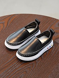 cheap -Boys' Shoes PVC Leather Spring / Fall Comfort Loafers & Slip-Ons for White / Black / Pink