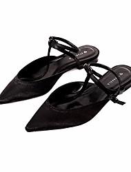 povoljno -Žene Cipele Sintetika, mikrofibra, PU Proljeće Jesen Balerinke Udobne cipele Ravne cipele Niska potpetica za Kauzalni Crn Plava Badem