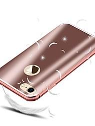abordables -Coque Pour Apple iPhone 8 / iPhone 8 Plus Antichoc / Plaqué Coque Couleur Pleine Dur Aluminium pour iPhone 8 Plus / iPhone 8 / iPhone 7 Plus