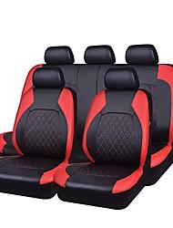 baratos -Capas de assento Preto Cinzento Preto/Vermelho PU Leather Tecido Negócio for Universal Universal