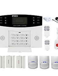 abordables -CS85 Systèmes d'alarme domestique GSM Plate-forme GSM Télécommande 433MHzforIntérieur