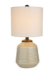 Недорогие -Простой Защите для глаз Настольная лампа Назначение Фарфор 110-120Вольт 220-240Вольт Белый