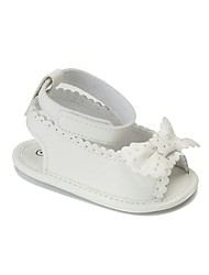 cheap -Girls' Shoes Leatherette Summer / Fall Comfort / First Walkers / Crib Shoes Sandals Bowknot / Magic Tape for Baby White / Pink