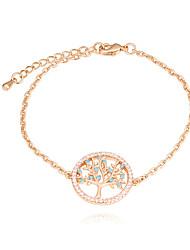 abordables -Femme Zircon Bracelet - Arbre de la vie Européen, Mode Bracelet Or / Or Rose Pour Quotidien