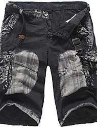economico -Per uomo Cotone Largo Cargo Pants Pantaloni - Camouflage