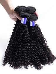 cheap -Brazilian Hair Curly / Deep Wave Virgin Human Hair Natural Color Hair Weaves / Hair Care / One Pack Solution 6 Bundles Human Hair Weaves Soft / Hot Sale / Fashion Natural Black Human Hair Extensions