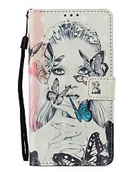 cheap -Case For Huawei Mate 10 lite Mate 10 pro Card Holder Wallet with Stand Flip Pattern Full Body Cases Butterfly Sexy Lady Hard PU Leather