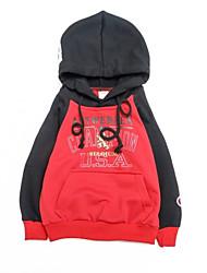 abordables -Enfants Garçon Points Polka Imprimé Manches Longues Pull à capuche & Sweatshirt