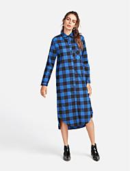 baratos -Mulheres Camisa Social Básico Listrado