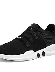 billiga -Herr Stickad Vår / Sommar Komfort Sneakers Grå / Svartvit / Svart / röd