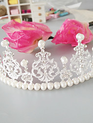 cheap -Imitation Pearl Alloy Tiaras with Faux Pearl Crystals / Rhinestones 1pc Wedding Special Occasion Headpiece
