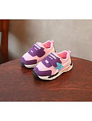 baratos -Para Meninas Para Meninos sapatos Tule Primavera Outono Primeiros Passos Conforto Tênis para Casual Vermelho Azul Rosa claro