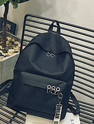 cheap -Unisex Bags Fabric Backpack Zipper Black / Blushing Pink
