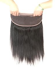 Недорогие -Laflare Бразильские волосы 360 Лобовой Прямой Бесплатный Часть / Средняя часть / 3 Часть Швейцарское кружево Натуральные волосы Жен. С детскими волосами / Для темнокожих женщин