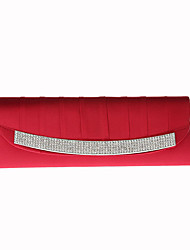 Недорогие -Жен. Мешки Satin Вечерняя сумочка Кристаллы Черный / Красный / Лиловый