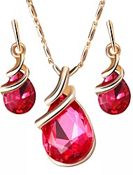 cheap -Women's Jewelry Set - Austria Crystal Drop Simple Include Purple / Red / Blue For Party / Daily / Earrings