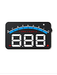 cheap -M6 5.6 inch LED Wired Head Up Display LED indicator Multi-functional display Plug and play for Truck Bus Car Display KM/h MPH Driving
