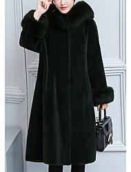 economico -Cappotto di pelliccia Per donna Tinta unita Pelliccia sintetica / Inverno