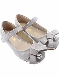 abordables -Fille Chaussures Cuir Verni Printemps Chaussures de Demoiselle d'Honneur Fille Ballerines pour Enfants Décontracté Noir / Gris / Rose