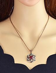 Недорогие -Синтетический турмалин Ожерелья с подвесками - Красный, Темно-зеленый 51 cm Ожерелье Назначение Вечеринка / ужин, Школа
