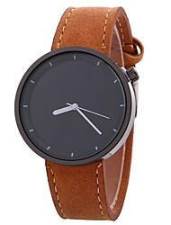 cheap -Women's Fashion Watch Chinese Large Dial PU Band Fashion / Minimalist Black / Red / Orange / One Year