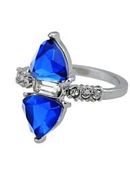 Недорогие -Жен. триллионный разрез Заявление обернуть кольцо Имитация турмалина Сплав Классический Мода Модные кольца Бижутерия Серебряный Назначение Повседневные Свидание 7