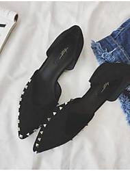 povoljno -Žene Cipele PU Proljeće Jesen Udobne cipele Ravne cipele Ravna potpetica za Kauzalni Crn Bijela