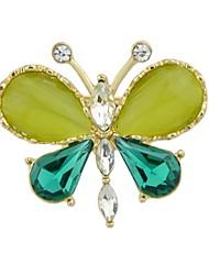 abordables -Tourmaline synthétique Broche - Papillon Basique, Mode Broche Vert Pour Quotidien / Rendez-vous