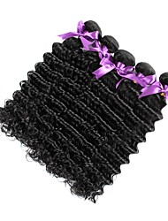 cheap -Malaysian Hair Curly / Deep Wave Virgin Human Hair Natural Color Hair Weaves 6 Bundles 8-28 inch Human Hair Weaves New Arrival / Hot Sale / Comfortable Natural Black Human Hair Extensions Women's