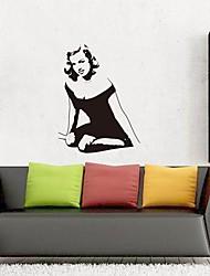Недорогие -Наклейка на стену Декоративные наклейки на стены - Люди стены стикеры Известные картины Положение регулируется Съемная