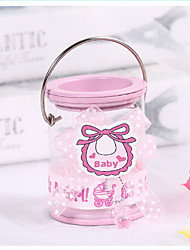 cheap -Cylinder Metalic Favor Holder with Bowknot Candy Jars and Bottles - 12