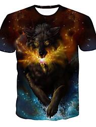 preiswerte -Herrn Geometrisch - Punk & Gothic Street Schick T-shirt Druck